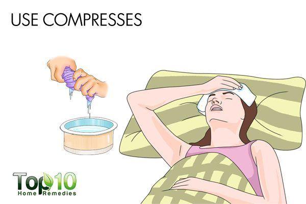 use compresses to reduce sinus headache