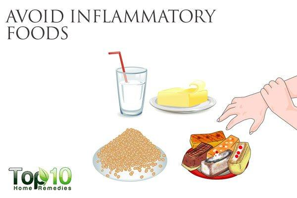 avoid inflammatory foods to promote gut health