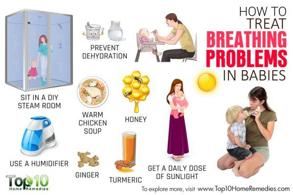 how to treat breathing problem in babies