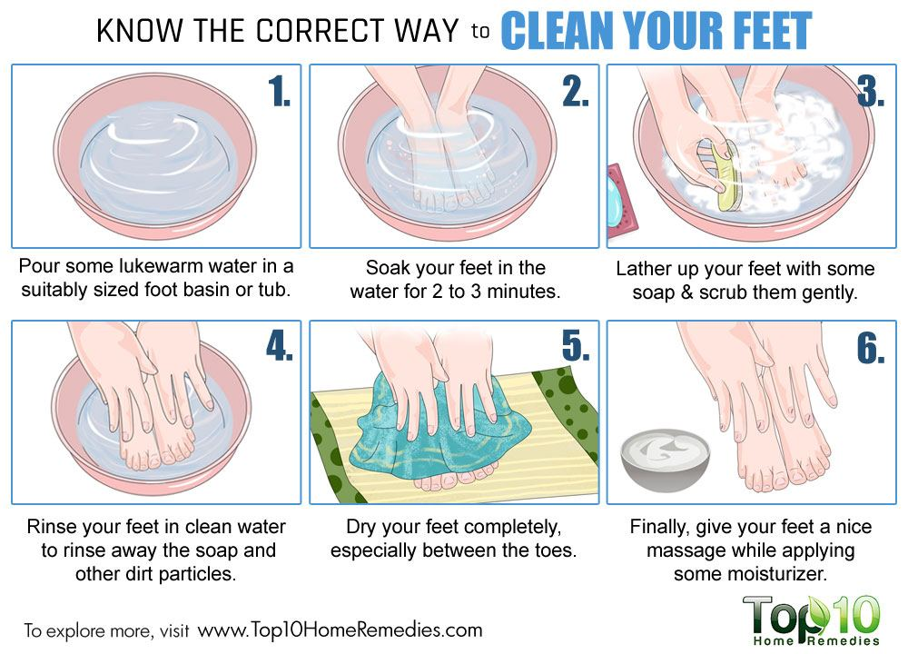 Know the correct way to clean your feet top 10 home remedies for Which way to home