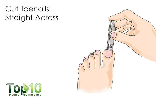 how to cut toenails straight or curved