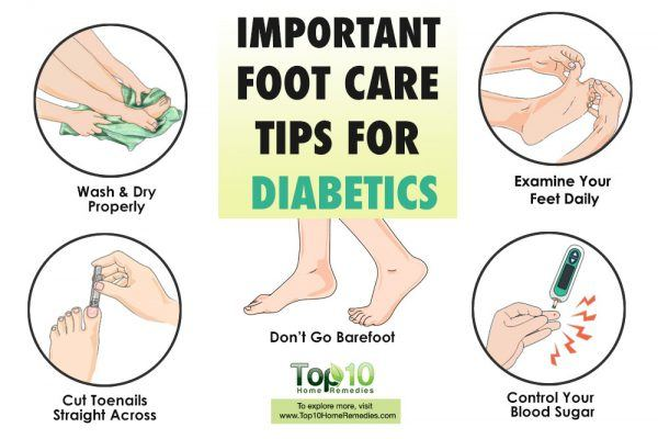 10 foot care tips for diabetics