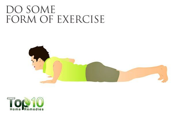 do some form of exercise to maintain healthy gut
