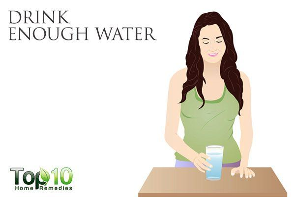 drink enough water to heal your gut