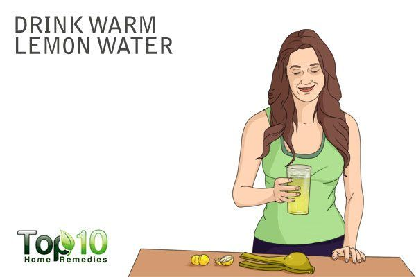 drink warm lemon water to increase urination