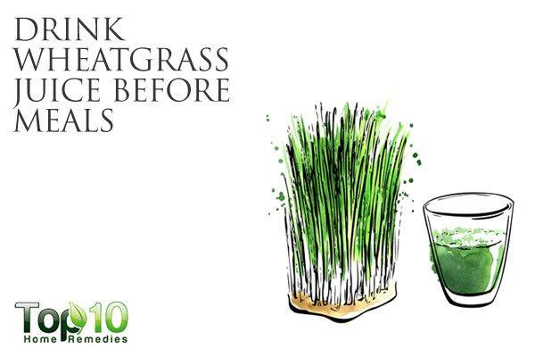 drink wheatgrass juice for gut health