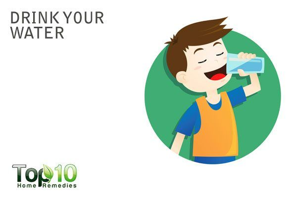 drink more water to increase urine output