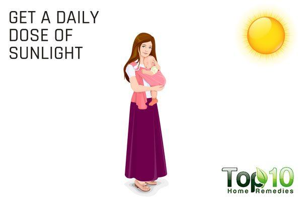 give a daily dose of sunlight to your baby