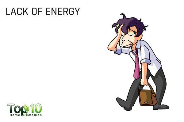 lack of energy due to unhealthy gut