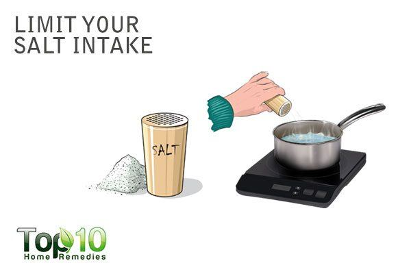 limit your salt intake to increase urine output