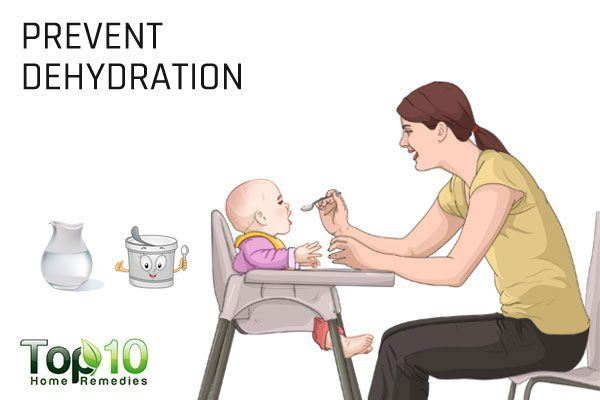 prevent dehydration to reduce breathing problem in babies