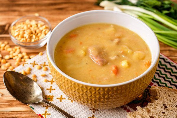 split pea soup for fiber intake