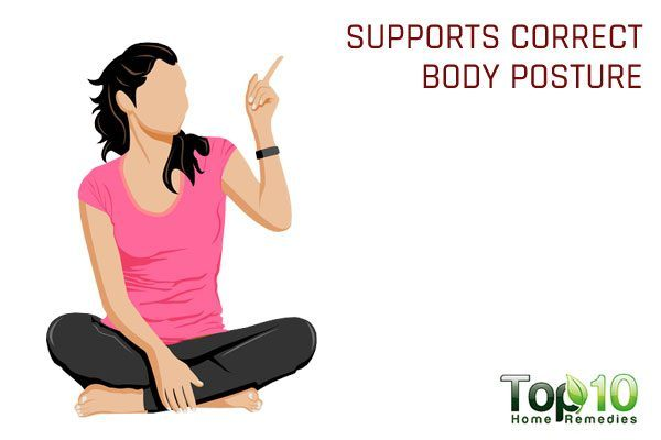 sittin cross-legged for eating supports correct posture