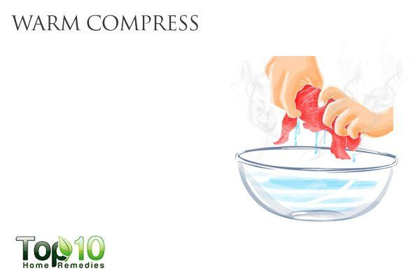warm compress for pink eye in children
