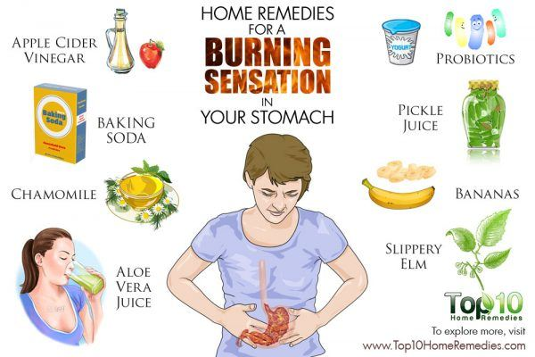 home remedies for burning sensation un stomach