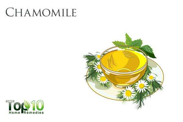 chamomile tea for burning sensations in stomach