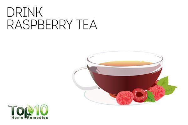 drink raspberry tea to shorten your periods