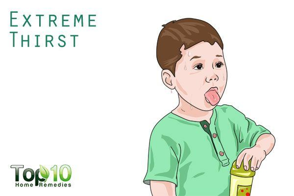 extreme thirst symptom in children