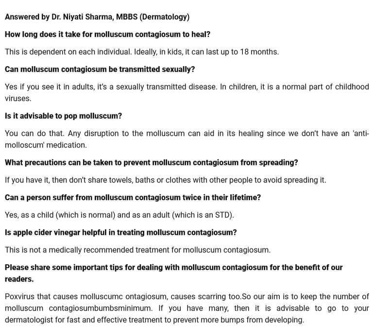 xpert Answers (Q&A) on Molluscum Contagiosum