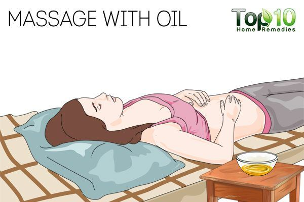 massage oil to stop period early
