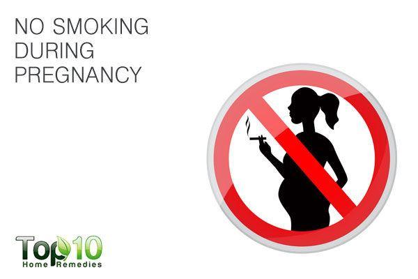 avoid smoking during pregnancy