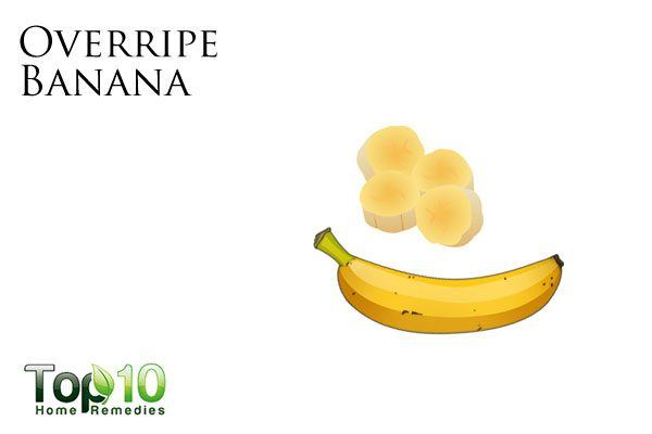 overripe banana for dry skin