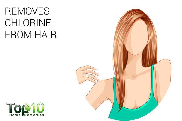 baking soda removes chlorine from hair