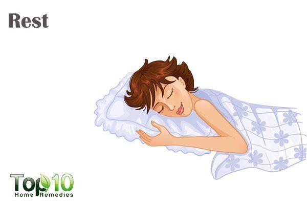 take proper rest to heal mononucleosis