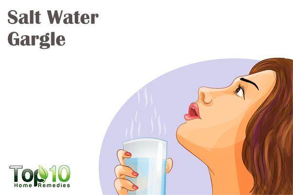 salt water gargle for mononucleosis