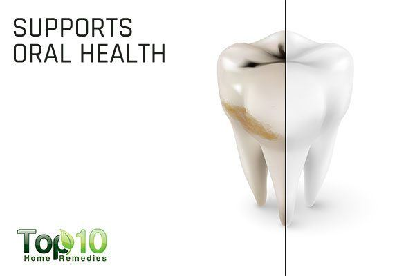 coconut oil supports oral health