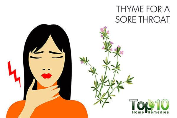 thyme for sore throat