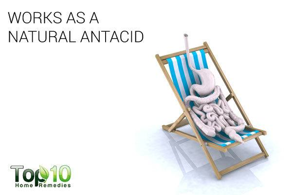 baking soda works as a natural antacid