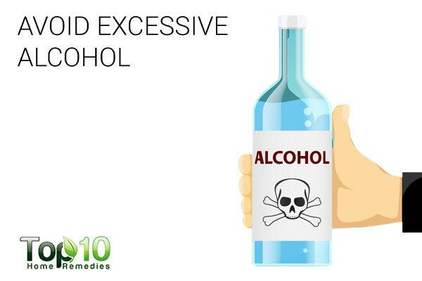 avoid excessive alcohol to treat paresthesia