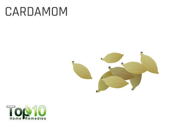 cardamom to mask garlic odor