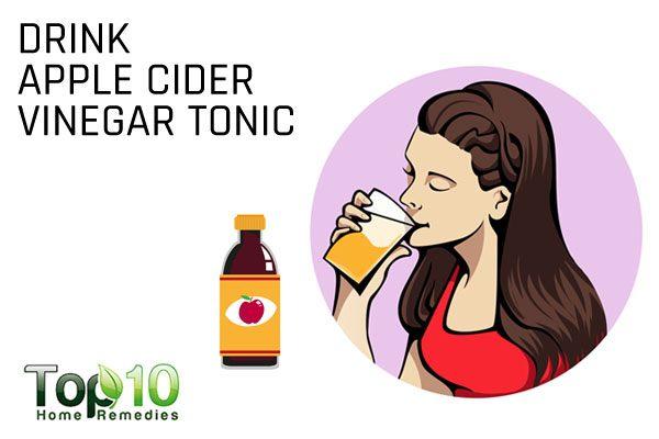 drink apple cider vinegar to treat antibiotic side effects