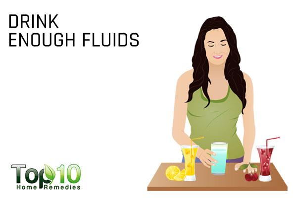 drink enough fluids to treat antibiotic side effects