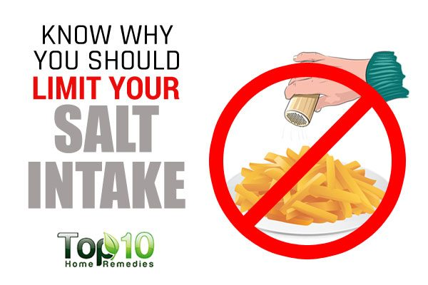reasons why you should limit salt intake