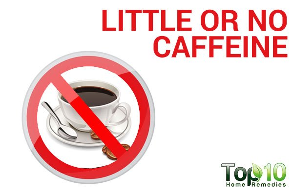little or no caffeine to reduce adrenal fatigue