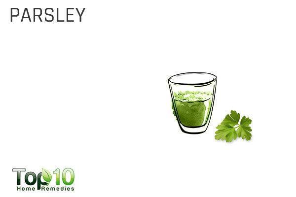 parsley to treat garlic breath