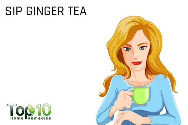 sip ginger tea to counter antibiotic side effects