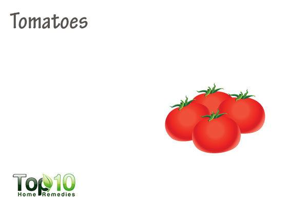 tomatoes to heal age spots