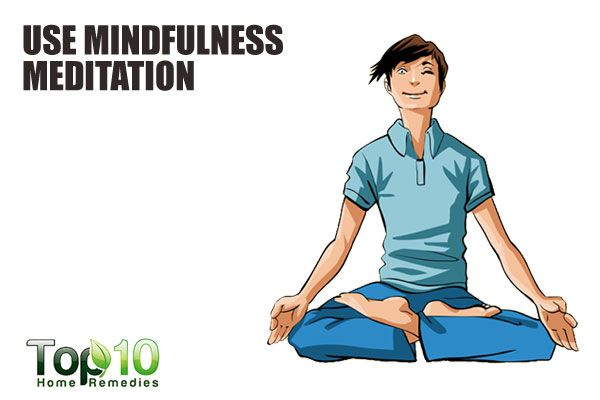 practice midfulness meditation to control anger