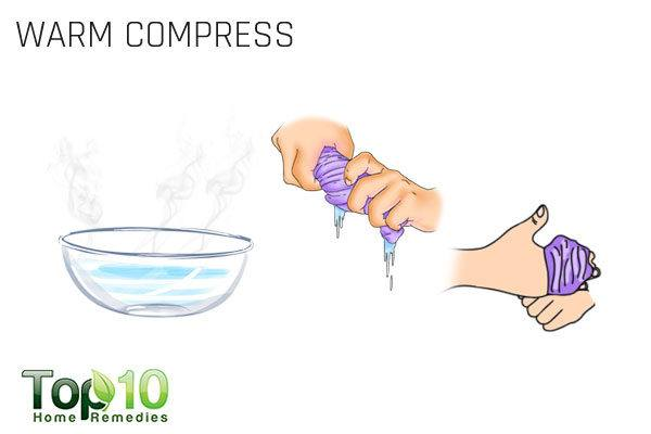 warm compress for paresthesia