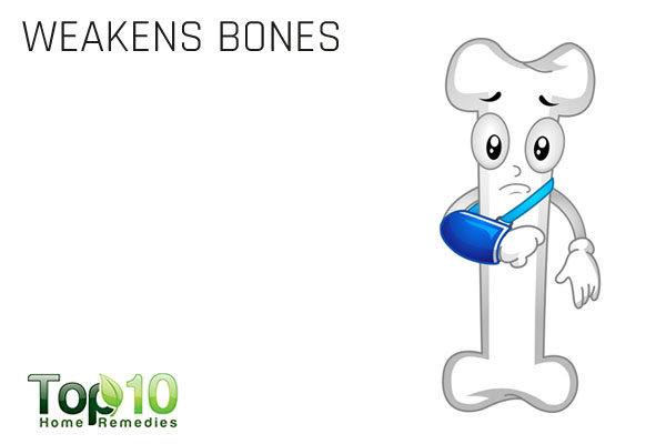 excess salt weakens bones