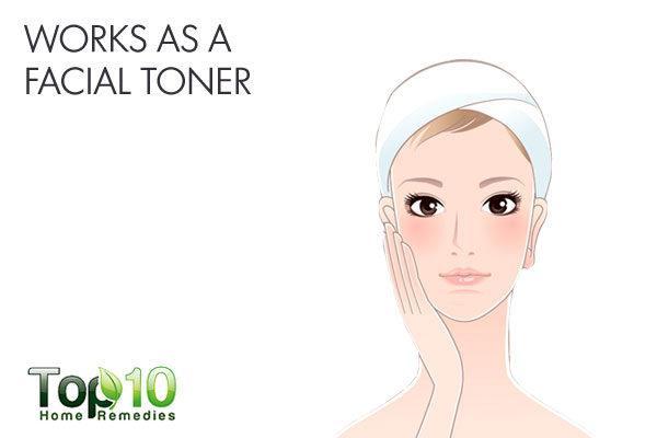 ACV works as a skin toner