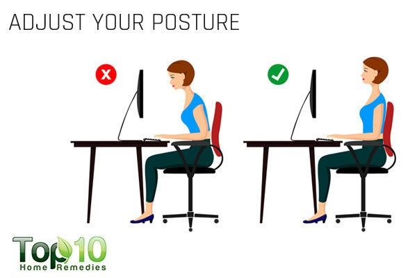 adjust your posture to ease pinched nerve