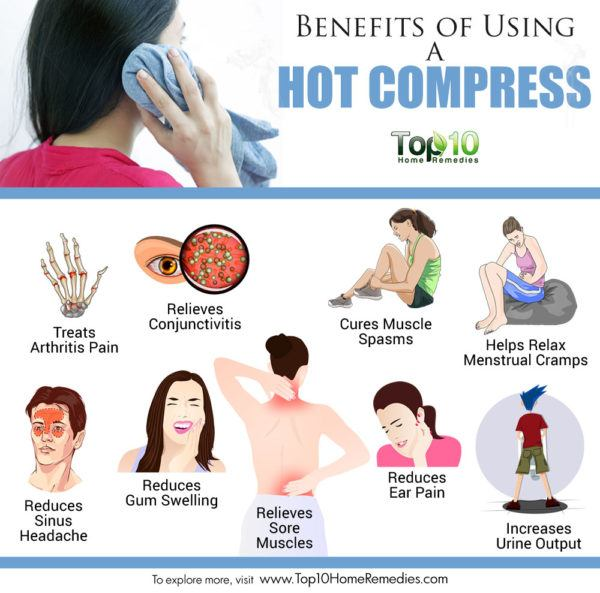 benefits of using a hot compress