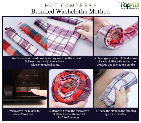 bundled washcloth hot compress