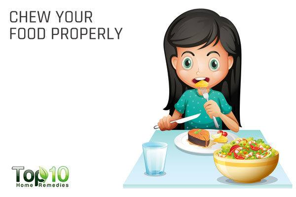 chew your food properly