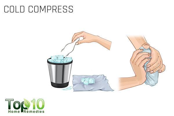 use a cold compress to treat a pinched nerve